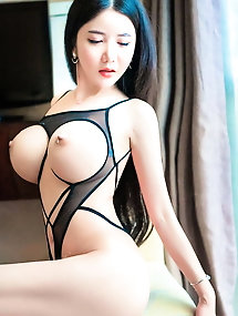 Asian woman is baring it all on cam